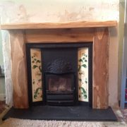 Worked Oak Fireplace Surround