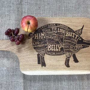 Pig Engraved Chopping Board