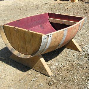 Trough Style Wine Barrel Planter