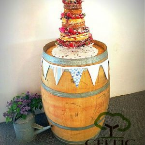 Wine Barrel Wedding Cake Stand