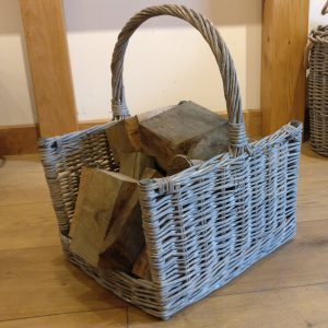 Wicker Log Basket / wicker laundry basket