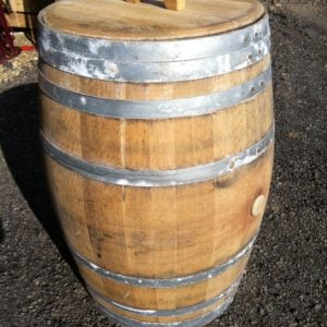 Lift Off Lid Oak Barrel