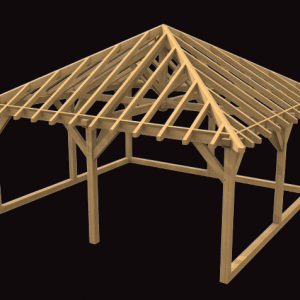 Two Bay Garage with Hip Roof