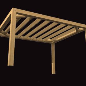Garden Pergola Oak Frame Structure
