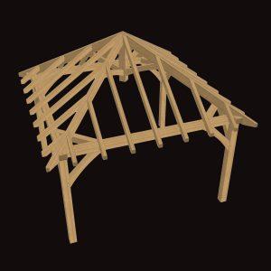 Small Oak Gazebo Frame Kit