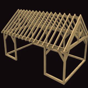 Sun room oak framed structure
