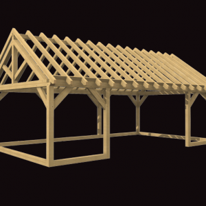 Sunroom oak framed structure