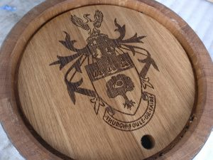 Barrel Keg Image Laser Engraving