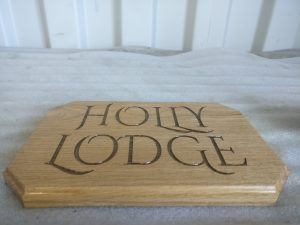 Personalised Laser Engraved House Plaque - Holly Lodge