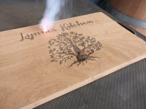 Lynne's kitchen - personalised laser engraved chopping board with tree of life