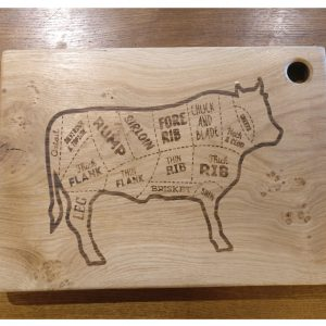 Cow Laser Engraved Chopping Board