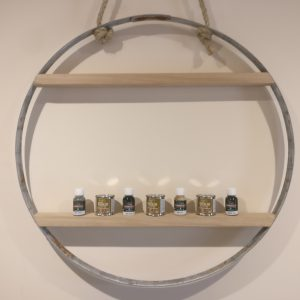 Special gift idea - steel barrel ring with kiln dried shelves