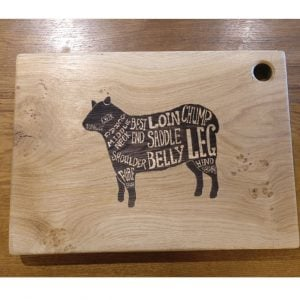 Laser Engraved Chopping Board with Lamb Design