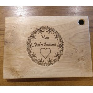 Laser Engraved Chopping Board with Awesome Mum Design