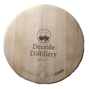 Deeside Distillery Laser Engraved Barrel Lid Sign